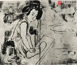 Dough kneading: mural from Zhao Dejun tomb
